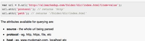 Allmarkedup jQuery URL Parser  GitHub